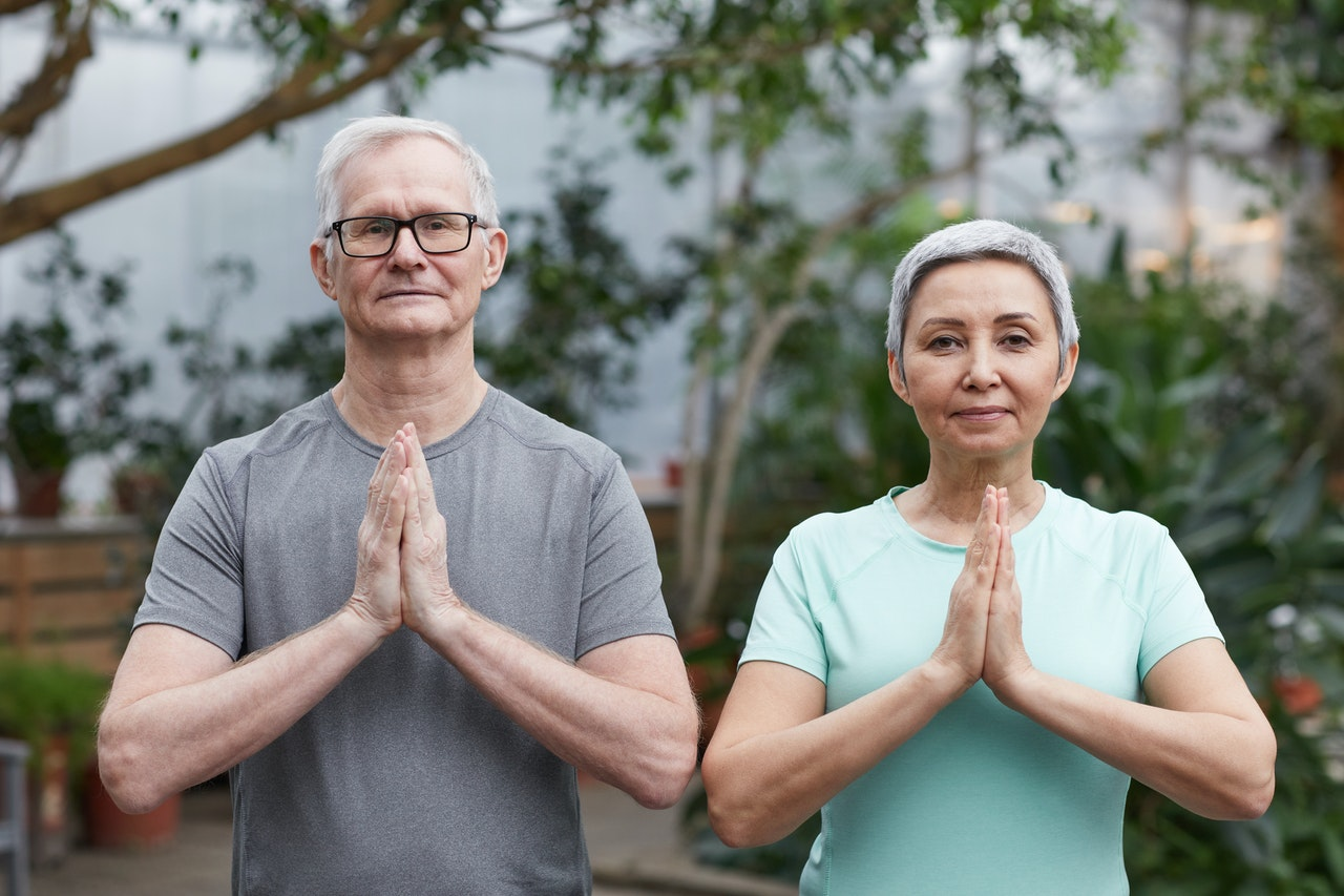 Older Healthy Couple Joined Hands